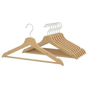 Set of 8 BUMERANG closet Hangers, solid wood, new